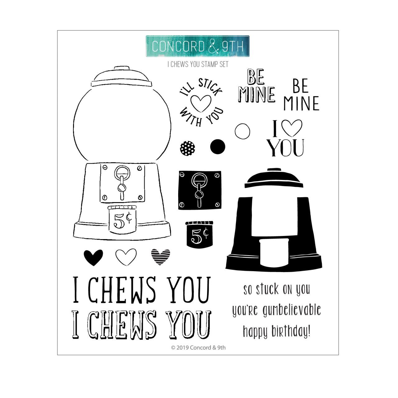 I Chews You, Concord & 9th Clear Stamps - 090222401198