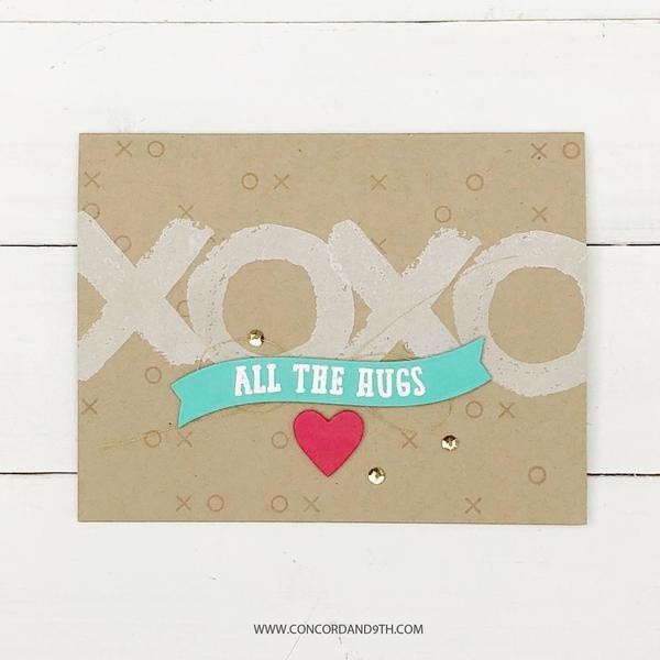 Love You To Pieces, Concord & 9th Clear Stamps - 090222401211