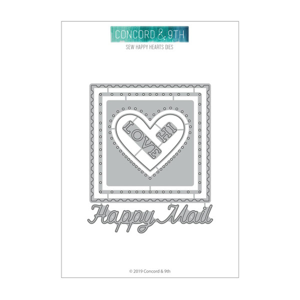 Sew Happy Hearts, Concord & 9th Dies - 090222401242