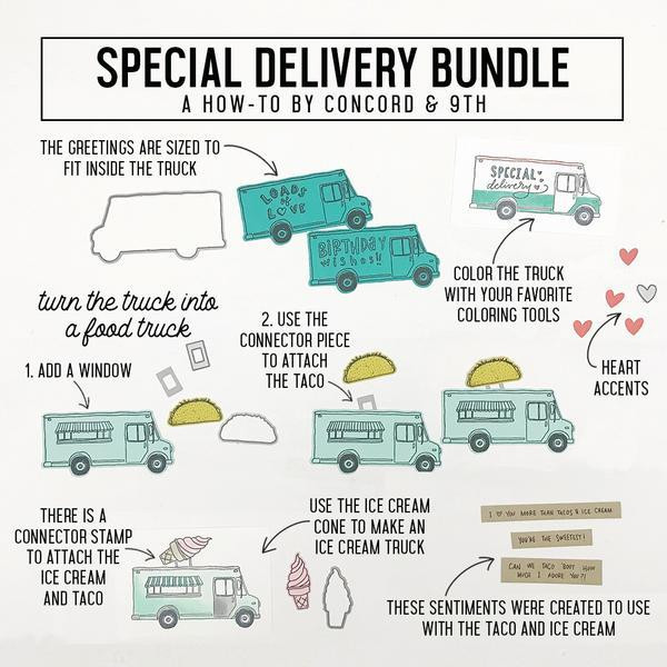 Special Delivery, Concord & 9th Clear Stamps - 090222401259