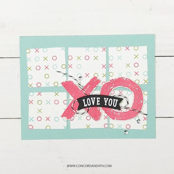 XOXO Turnabout, Concord & 9th Clear Stamps - 090222401273