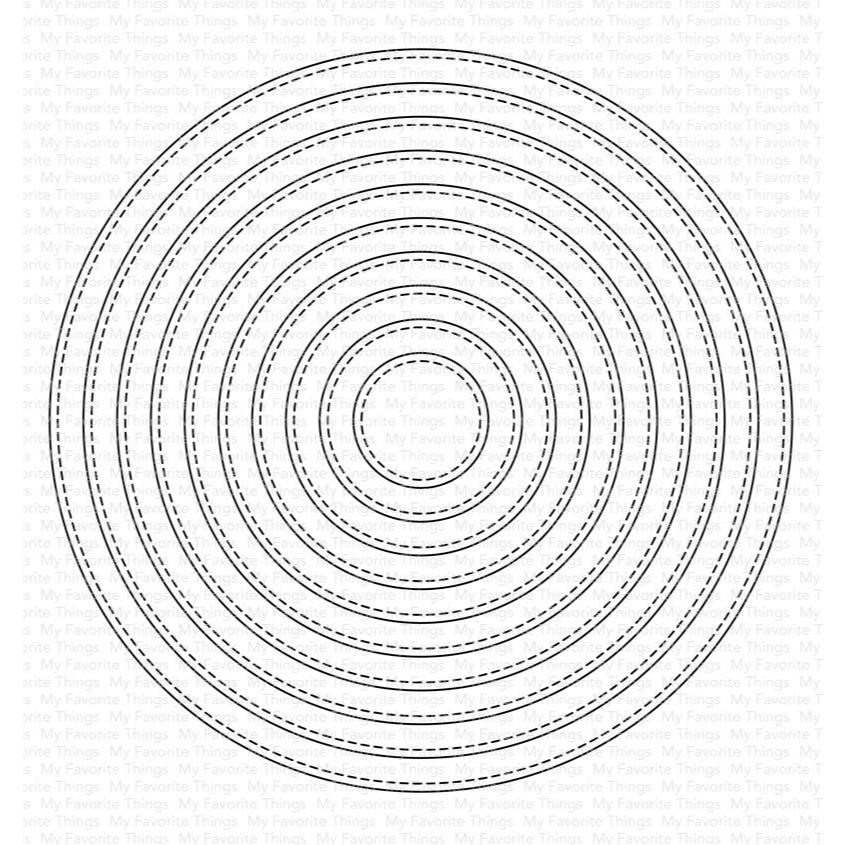 A2 Stitched Circle STAX, My Favorite Things Die-Namics - 849923033722