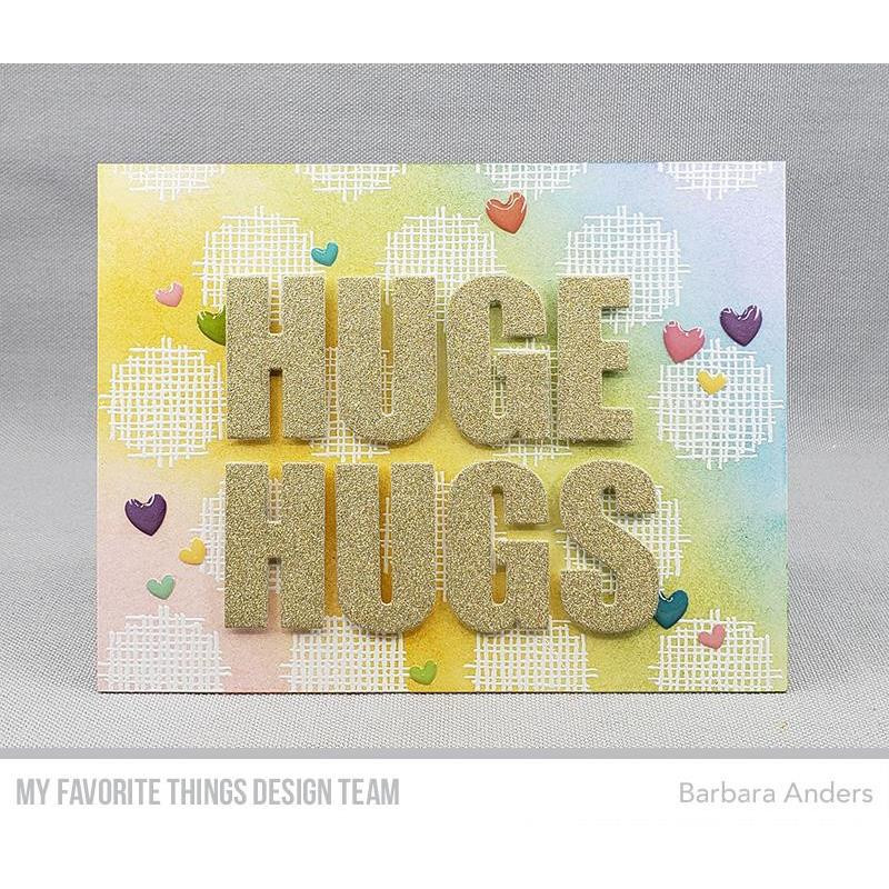 Crosshatch Polka Dot Background, My Favorite Things Cling Stamps - 849923033630