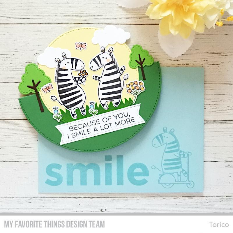 Zippy Zebras, My Favorite Things Clear Stamps - 849923033609