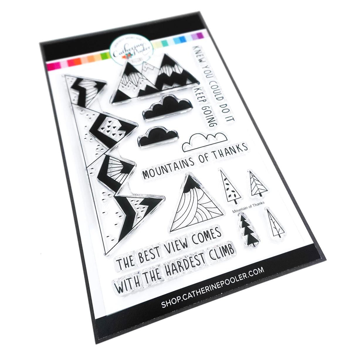 Mountain of Thanks, Catherine Pooler Clear Stamps - 819447023202