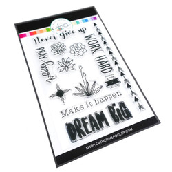 Dream Big Sentiment, Catherine Pooler Clear Stamps - 819447025794