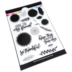 Shine On Sunflowers, Catherine Pooler Clear Stamps - 819447026395