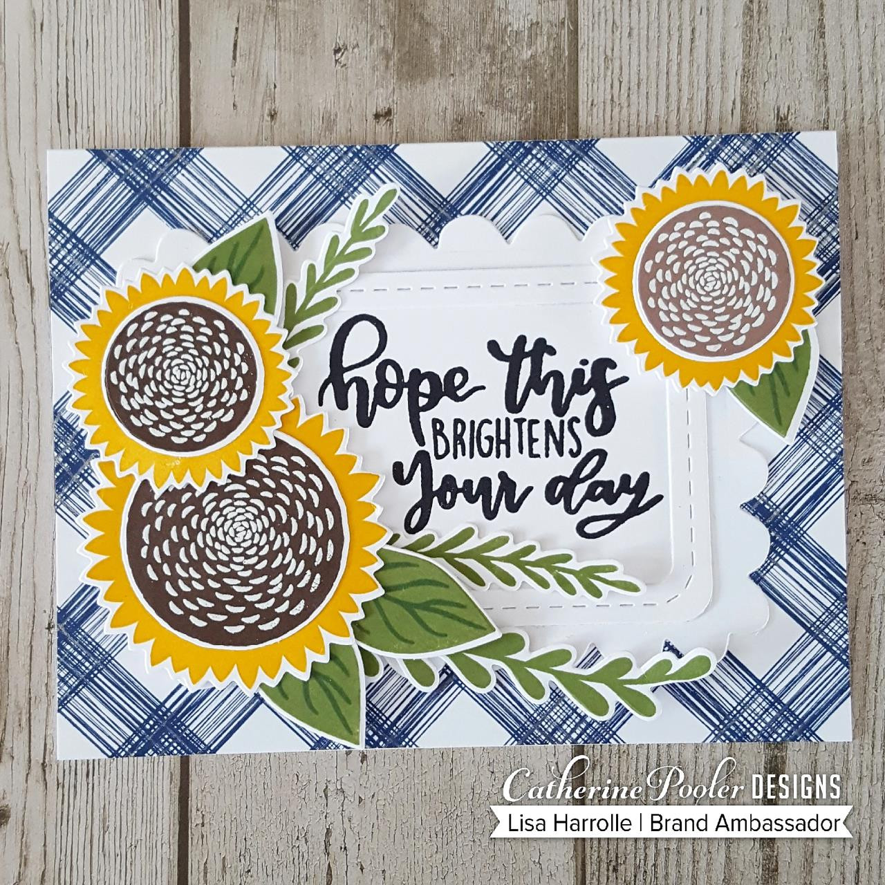 Sketch Plaid Background, Catherine Pooler Cling Stamps - 819447026333