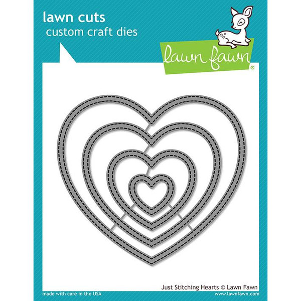 Just Stitching Hearts, Lawn Cuts Dies - 035292674202