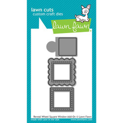 Reveal Wheel Square Window Add-On, Lawn Cuts Dies - 035292674165