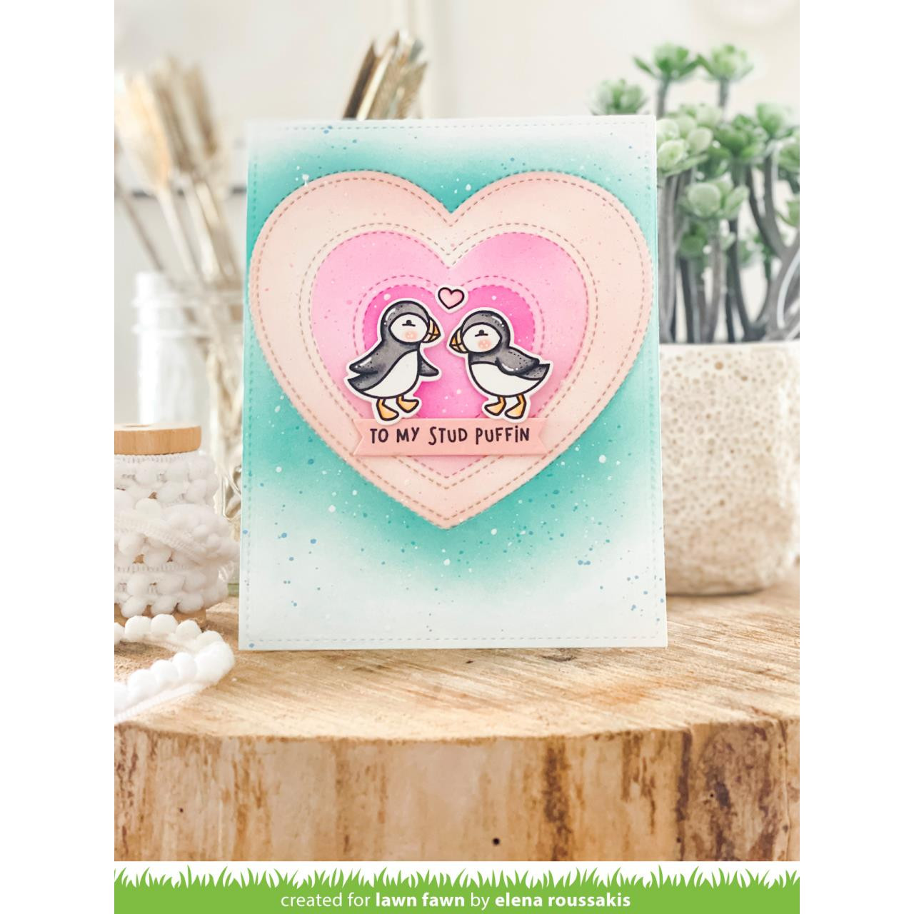 Stud Puffin, Lawn Fawn Clear Stamps - 035292674141