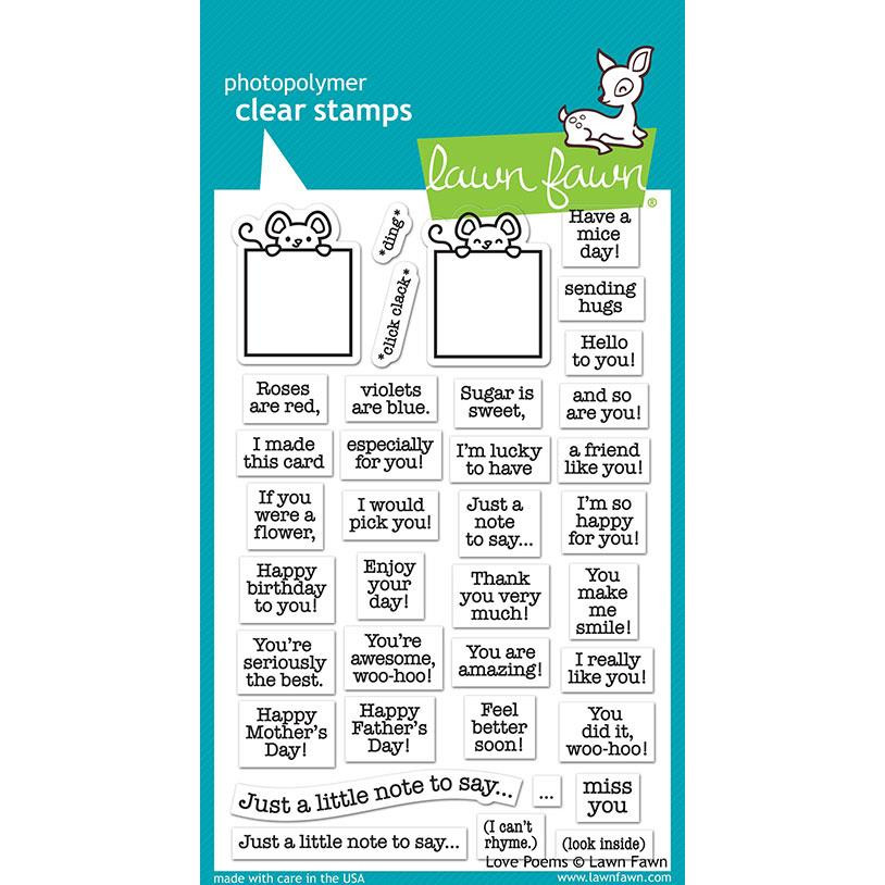 Love Poems, Lawn Fawn Clear Stamps - 035292674127