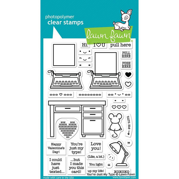 You're Just My Type, Lawn Fawn Clear Stamps - 035292674103
