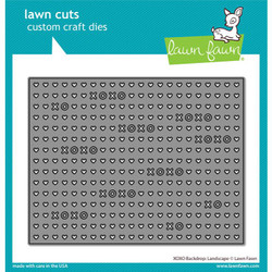 XOXO Backdrop: Landscape, Lawn Cuts Dies - 035292674233