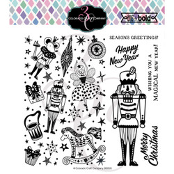 Nutcracker Quick Card, Colorado Craft Company Clear Stamps - 857287008836