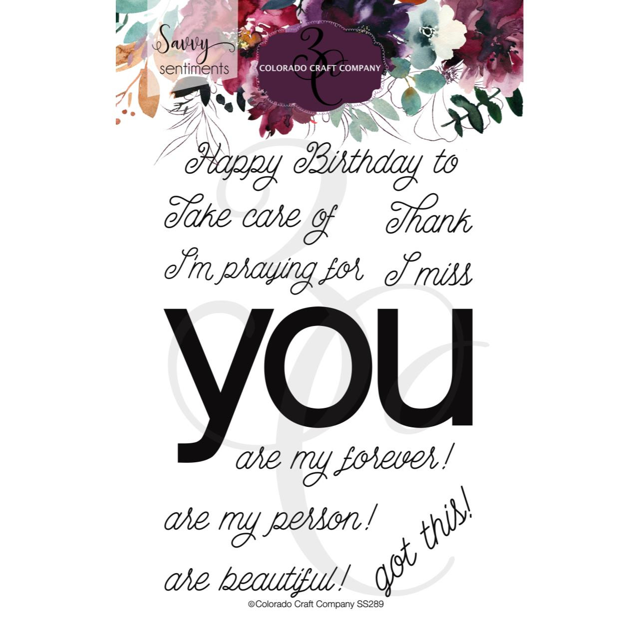 You Greetings, Colorado Craft Company Clear Stamps - 857287008898