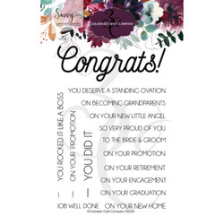 Congrats Everything, Colorado Craft Company Clear Stamps - 857287008904