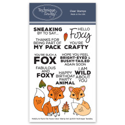 Felicity & Flynn the Foxes, Technique Tuesday Clear Stamps - 811784028247