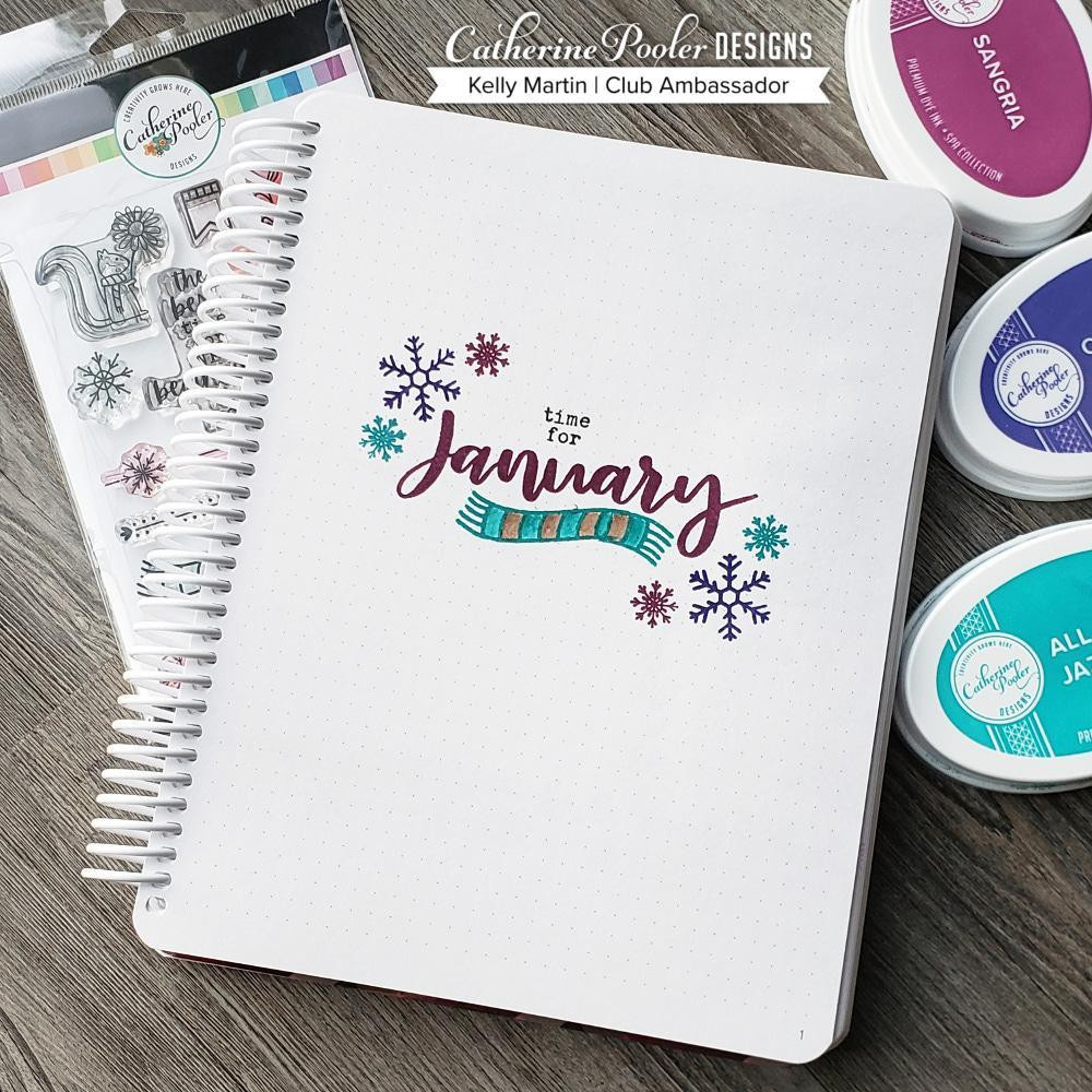 January, Catherine Pooler Clear Stamps - 819447026036