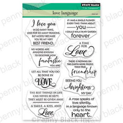 Love Language, Penny Black Clear Stamps - 759668306671