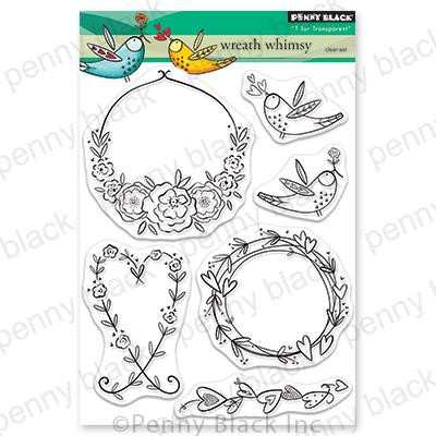 Wreath Whimsy, Penny Black Clear Stamps - 759668306541