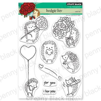 Hedgie Luv, Penny Black Clear Stamps - 759668306589