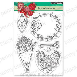 Key to Kindness, Penny Black Clear Stamps - 759668306657