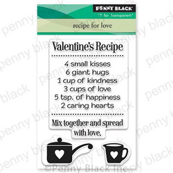 Recipe for Love, Penny Black Clear Stamps - 759668306695