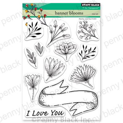 Banner Blooms, Penny Black Clear Stamps - 759668306640