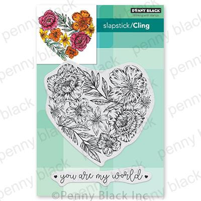 Passionate Blooms, Penny Black Cling Stamps - 759668407187