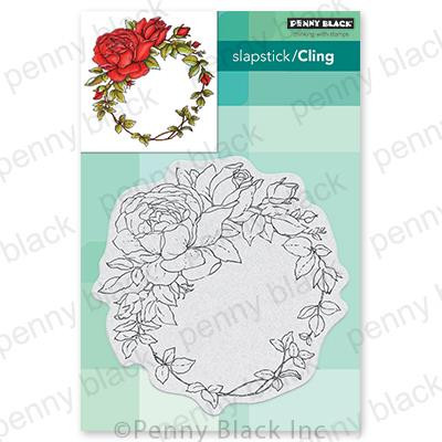 Winsome Wreath, Penny Black Cling Stamps - 759668407217
