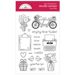Love Notes, Doodlebug Clear Stamps - 842715065840
