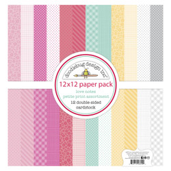 Love Notes Petite Print, Doodlebug 12 X 12 Paper Pack - 842715066090