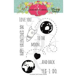 To the Moon, Colorado Craft Company Clear Stamps - 857287008850