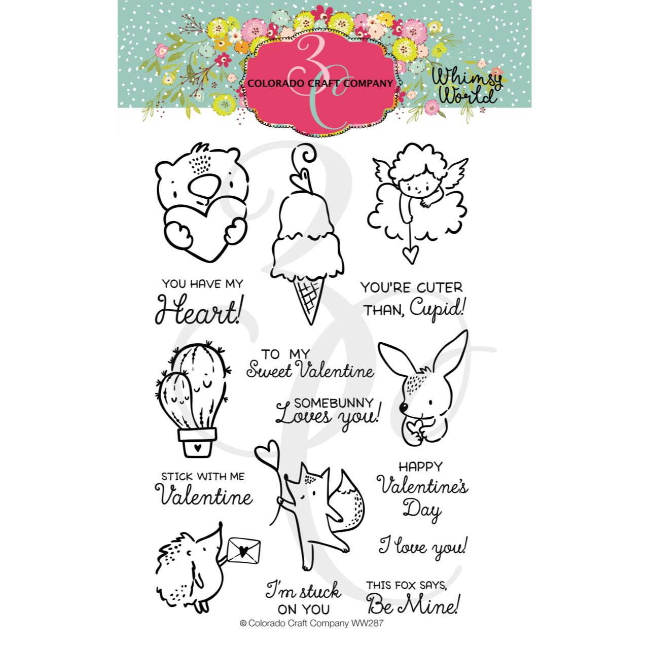 Mini Love Cards, Colorado Craft Company Clear Stamps - 857287008874