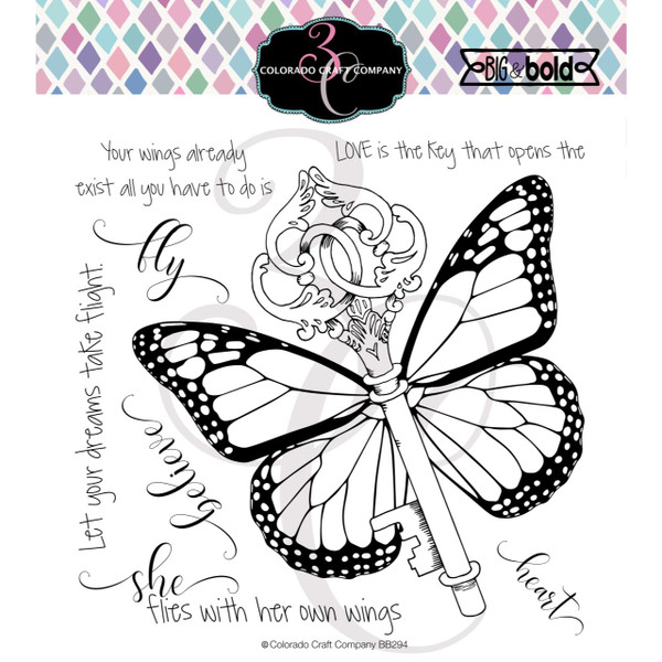 Her Own Wings, Colorado Craft Company Clear Stamps - 857287008942