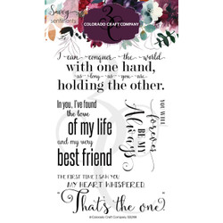 Large Love Quotes, Colorado Craft Company Clear Stamps - 857287008980