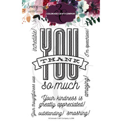Thank You So Much, Colorado Craft Company Clear Stamps - 857287008997