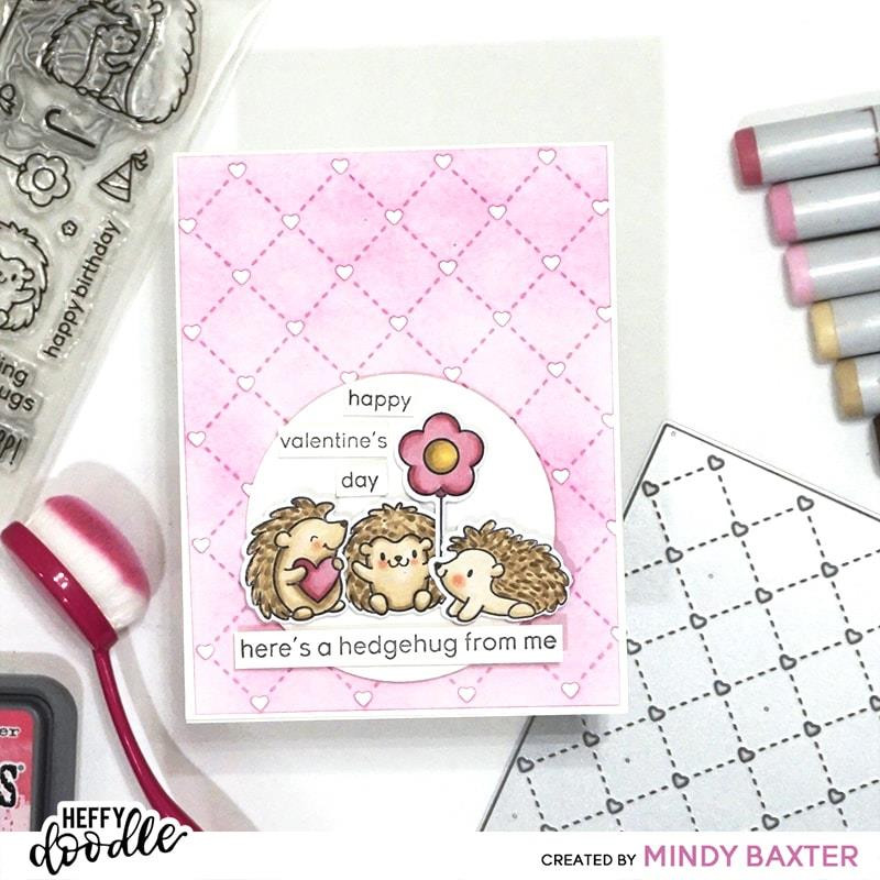 Quilted Heart Background, Heffy Doodle Dies - 5060540222411