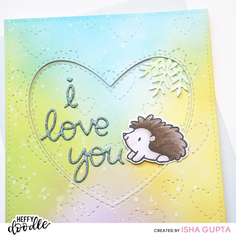 Stitched Hearts Background, Heffy Doodle Dies - 5060540222510