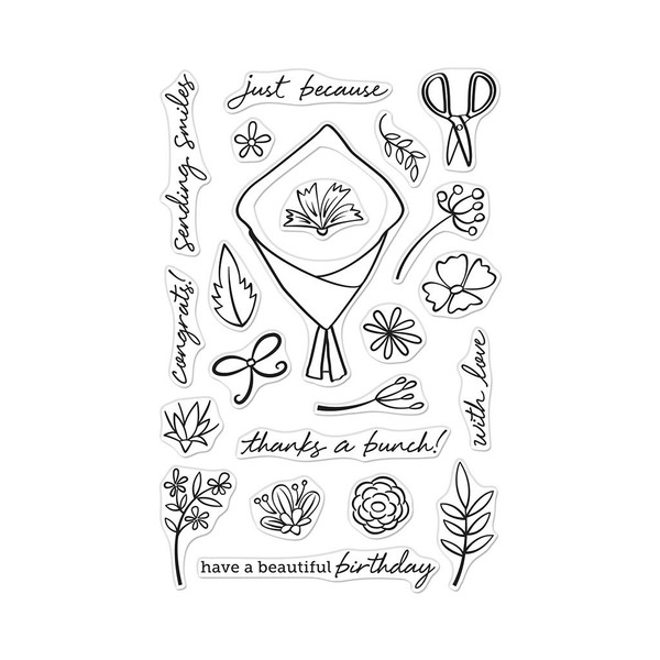 Flower Bouquet, Hero Arts Clear Stamps - 085700926058