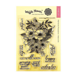 Blossoms, Waffle Flower Clear Stamps - 644216571222