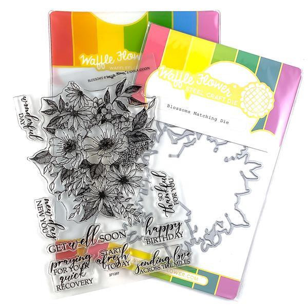 Blossoms, Waffle Flower Stamp & Die Combo - 644216572526