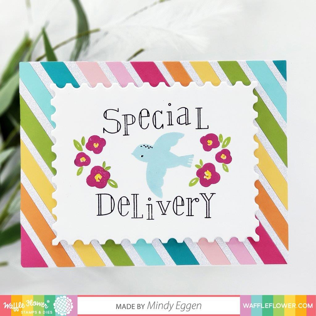 Nesting Postages, Waffle Flower Dies - 644216571826