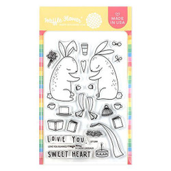 Love You Bunnies, Waffle Flower Clear Stamps - 644216571420