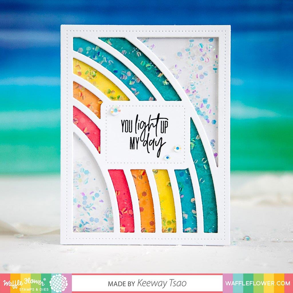 Fresh Rainbow Sentiments, Waffle Flower Clear Stamps - 644216571529