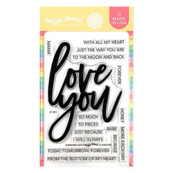 Oversized Love, Waffle Flower Clear Stamps - 644216571628