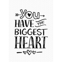 You Have the Biggest Heart, My Favorite Things Clear Stamps - 849923033753