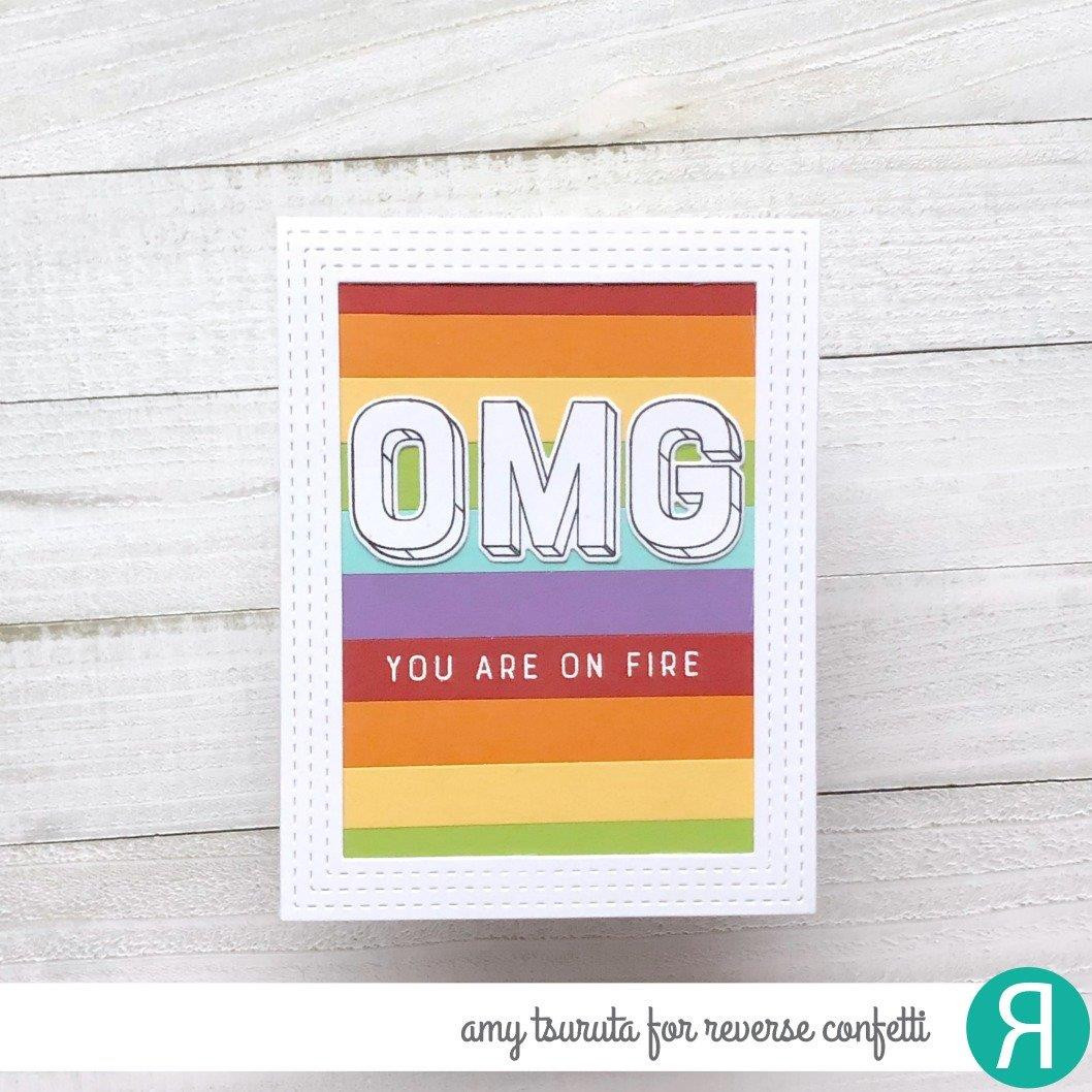OMG, Reverse Confetti Clear Stamps -