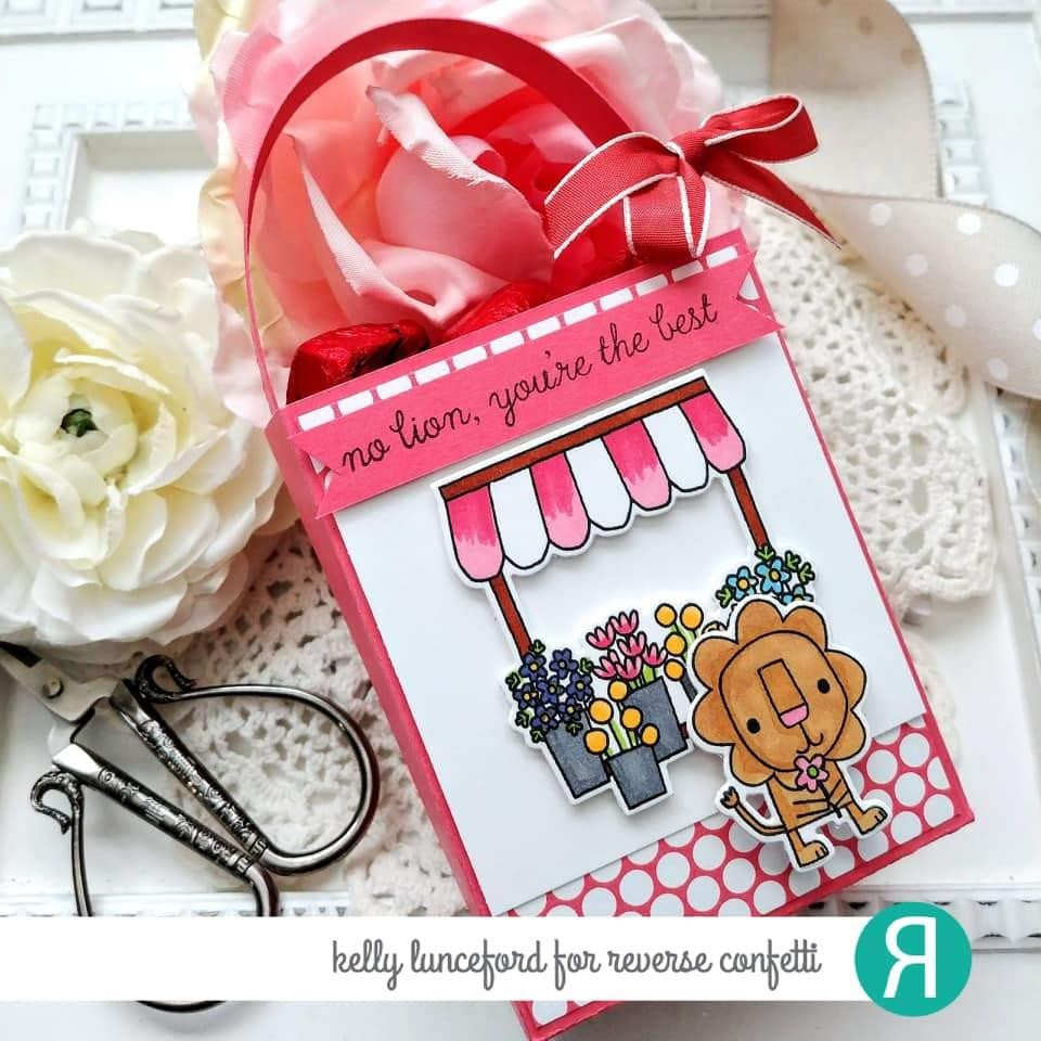 Flowers for a Friend, Reverse Confetti Clear Stamps -